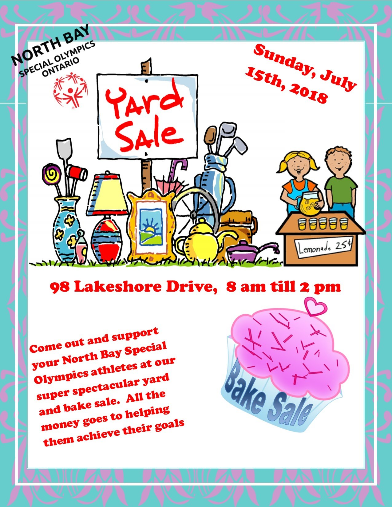 Come out to support our yard sale